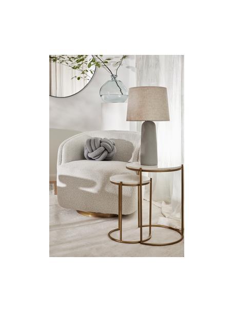 Set de mesas auxiliares de mármol Ella, 2pzas., Tablero: mármol, Estructura: metal con pintura en polv, Mármol blanco, dorado, Set de diferentes tamaños