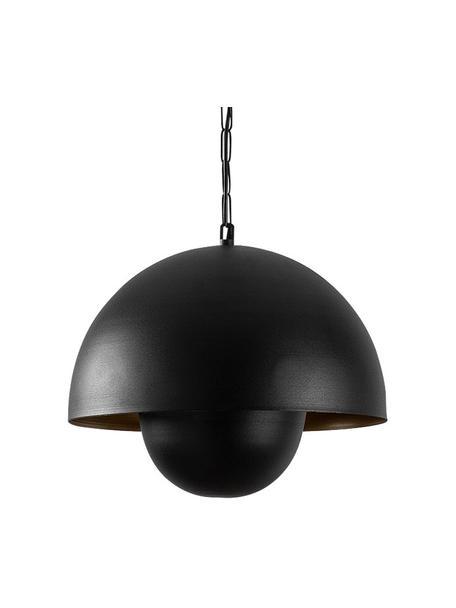 Lámpara de techo Yanigara, estilo industrial, Pantalla: metal recubierto, Anclaje: metal recubierto, Cable: plástico, Negro, Ø 30 cm