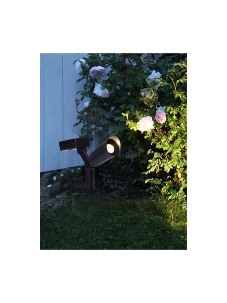 Set lampada solare da terra Powerspot 2 pz, Struttura: materiale sintetico, Nero, Larg. 20 x Alt. 15 cm