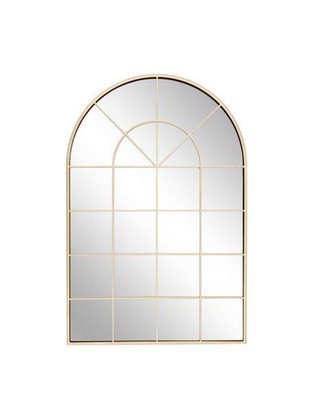 Wandspiegel Clarita in Fensteroptik mit goldenem Metallrahmen, Rahmen: Metall, beschichtet, Rückseite: Mitteldichte Holzfaserpla, Spiegelfläche: Spiegelglas, Goldfarben, 60 x 90 cm