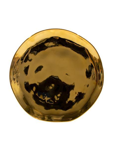 Good Morning dessertbord in goud, Ø 22 cm, Gecoat keramiek, Goudkleurig, Ø 22 cm