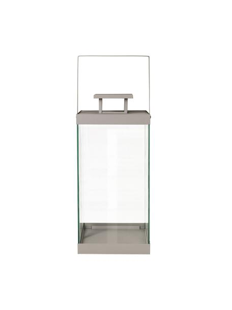 Lantaarn Finca, Frame: gecoat metaal, Taupe, Ø 20 x H 58 cm
