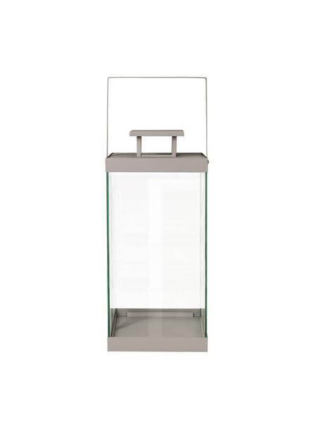 Laterne Finca, Gestell: Metall, beschichtet, Taupe, Ø 20 x H 58 cm