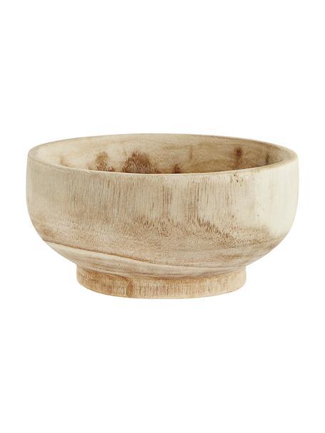 Miska z drewna paulownia Sandry, 2 szt., Drewno paulownia, olejowane, Drewno paulowania, Ø 20 cm