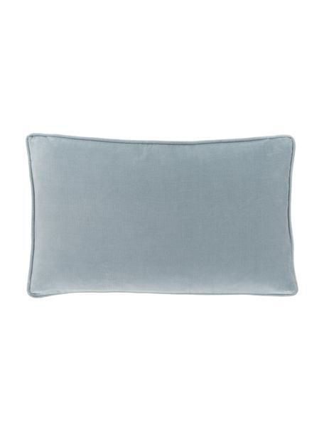 Einfarbige Samt-Kissenhülle Dana in Hellblau, 100% Baumwollsamt, Hellblau, 30 x 50 cm