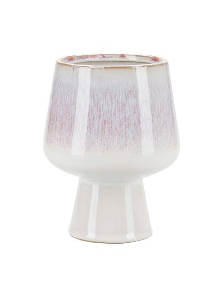 Kleiner Übertopf Serana aus Keramik, Keramik, Weiß, Rosa, Ø 13 x H 17 cm
