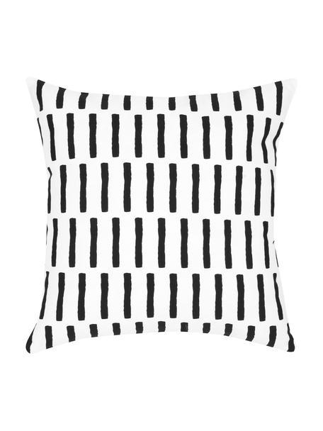 Poszewka na poduszkę Jerry, Bawełna, Czarny, biały, S 40 x D 40 cm