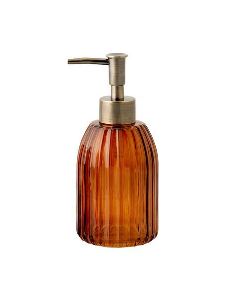 Dosificador de jabón Aldgate, Recipiente: vidrio, Dosificador: plástico, Marrón, Ø 7 x Al 17 cm