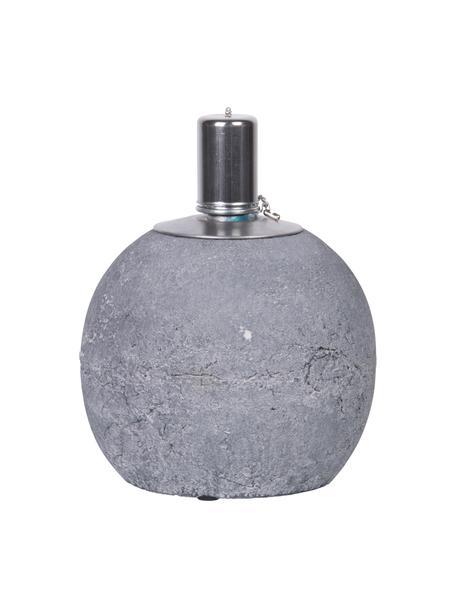 Öllampe Raw, Beton, Edelstahl, Grau, Ø 14 x H 17 cm