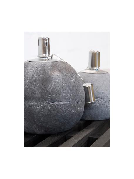 Lámpara de aceite Raw, Hormigón, acero inoxidable, Gris, Ø 14 x Al 17 cm