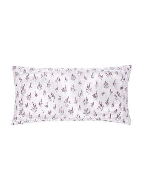 Poszewka na poduszkę z bawełny Yane, 2 szt., Lila, biały, S 40 x D 80 cm