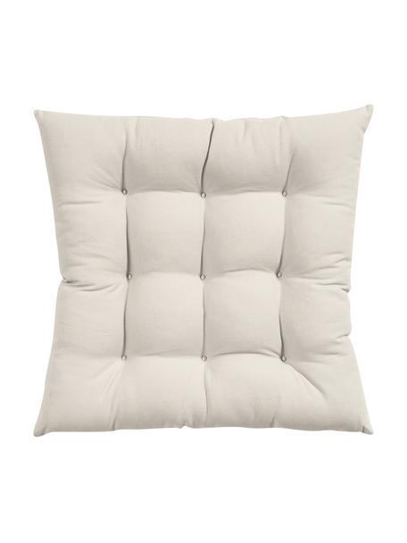 Cojín de asiento Ava, Funda: 100%algodón, Beige, An 40 x L 40 cm