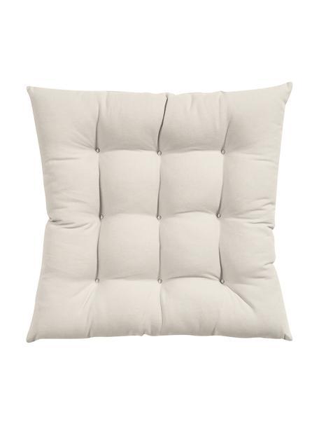 Cuscino sedia beige Ava, Rivestimento: 100% cotone, Beige, Larg. 40 x Lung. 40 cm