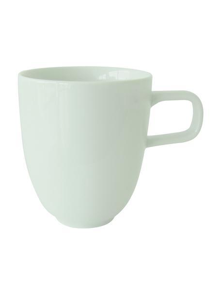 Porzellan-Tassen Kolibri in Mintgrün glänzend, 6 Stück, Porzellan, Mintgrün, Ø 8 x 10 cm