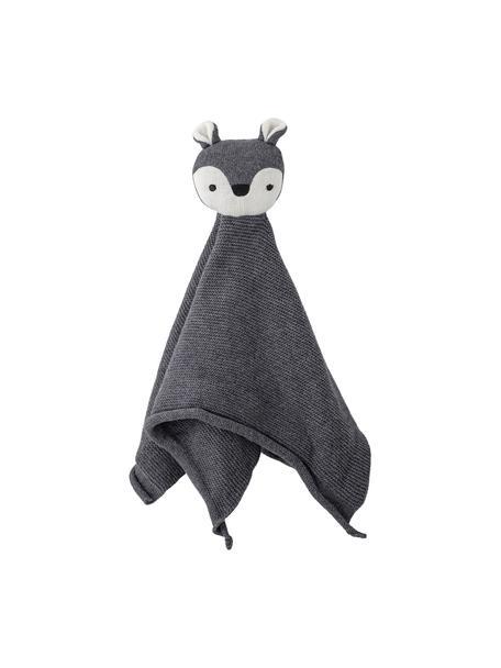 Schmusetuch Wolf, Bezug: Baumwolle, Öko-Tex-zertif, Grau, 30 x 36 cm
