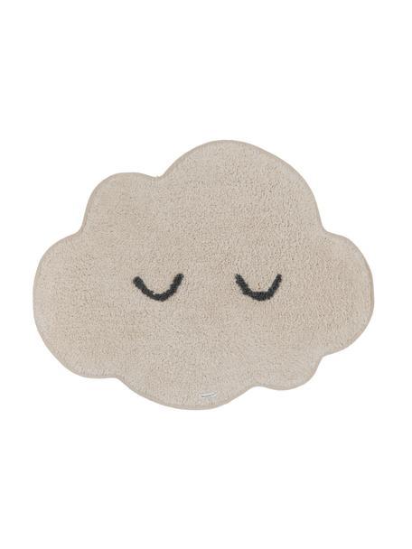 Vloerkleed Cloud van biokatoen, Katoen, Beige, 57 x 82 cm