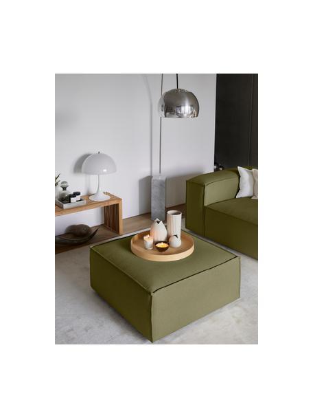 Sofa-Hocker Lennon in Grün, Bezug: Polyester Der hochwertige, Gestell: Massives Kiefernholz, Spe, Füße: Kunststoff Die Füße befin, Webstoff Grün, 88 x 43 cm