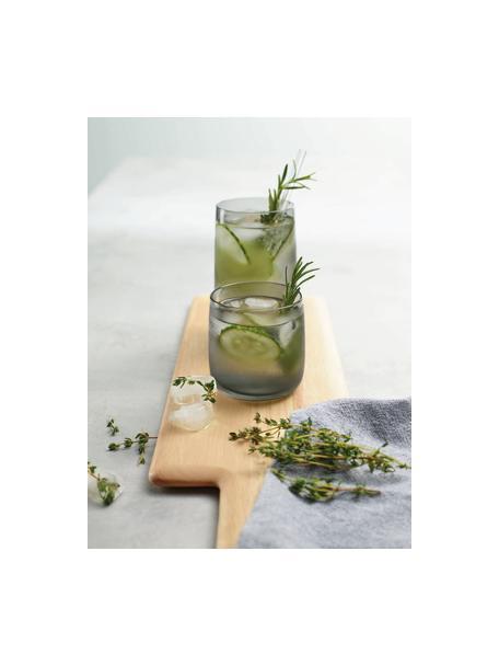 Bicchiere acqua fatto a mano Colored 6 pz, Vetro, Grigio trasparente, Ø 8 x Alt. 8 cm