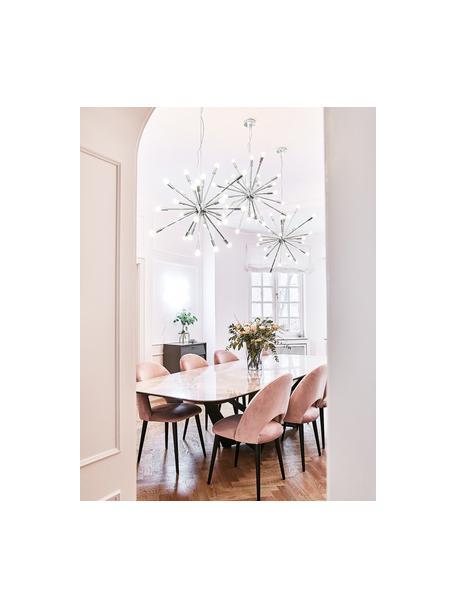 Lámpara de techo grande Spike, Pantalla: metal cromado, Anclaje: metal cromado, Cable: plástico, Cromo, Ø 90 cm