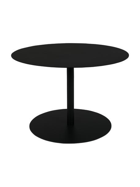 Stolik pomocniczy z metalu Snow, Metal malowany proszkowo, Czarny, Ø 60 x W 40 cm