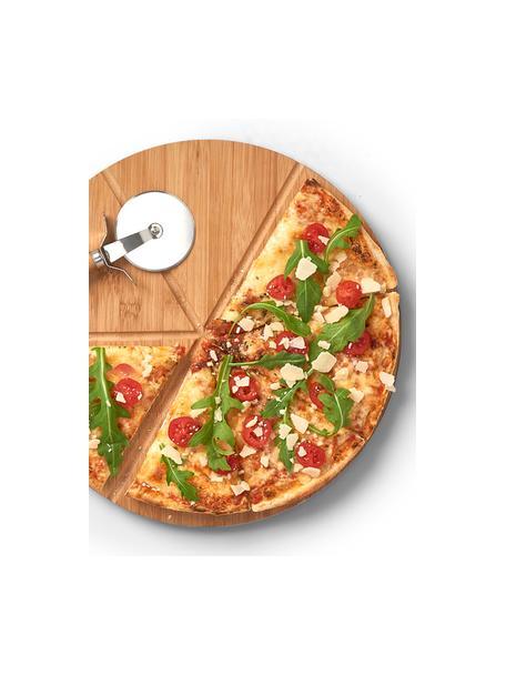 Bambus Pizza-Set Italiana, 2-tlg., Ø 32 cm, Bambus, Metall, Ø 32 cm