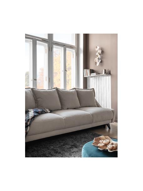 Sofá cama de terciopelo Royal Rose (3plazas), Tapizado: 100%terciopelo de poliés, Estructura: madera, aglomerado, Beige, An 223 x F 95 cm