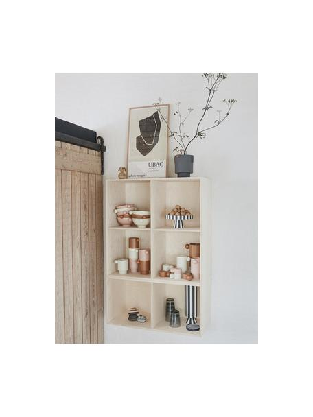 Portavaso da interno/esterno in ceramica fatto a mano Ika, Ceramica, Grigio scuro, Ø 15 x Alt. 16 cm
