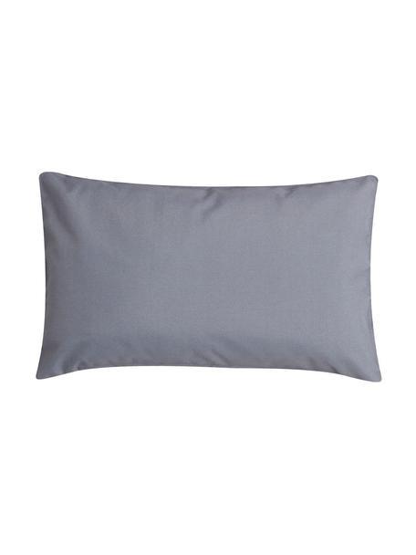 Cuscino da esterno in tinta unita con imbottitura St. Maxime, Antracite, nero, Larg. 30 x Lung. 50 cm