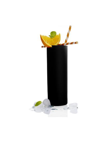 Kristall-Longdrinkgläser Campari in Schwarz, 6 Stück, Kristallglas, Schwarz, Ø 6 x H 17 cm