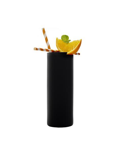 Bicchiere long drink in cristallo Campari 6 pz, Cristallo, Nero, Ø 6 x Alt. 17 cm