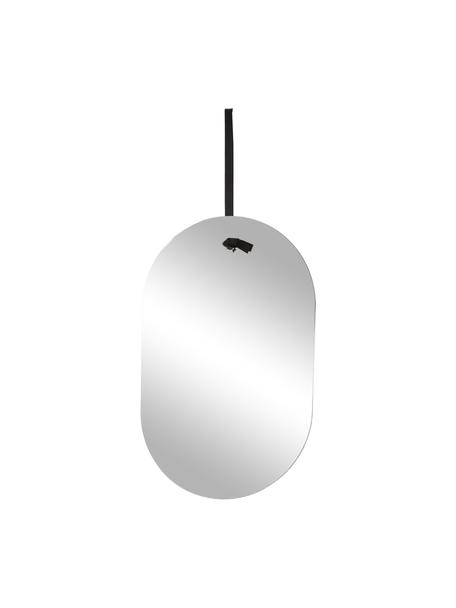 Espejo de pared ovalado Terry, Espejo: cristal, Espejo, negro, An 24 x Al 38 cm
