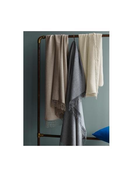 Manta de baby alpaca ligera Luxury, Beige, An 130 x L 200 cm