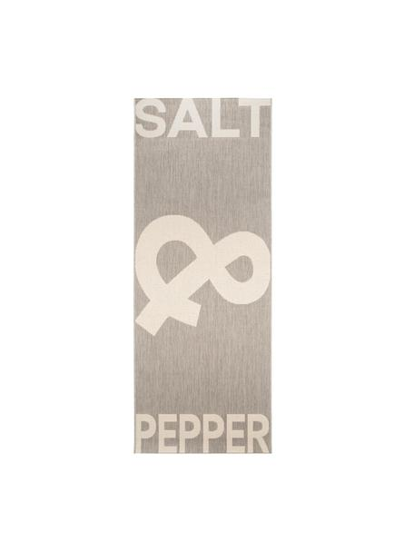 Passatoia con incisione Kitchen, 100% polipropilene, Grigio, crema, Larg. 80 x Lung. 200 cm