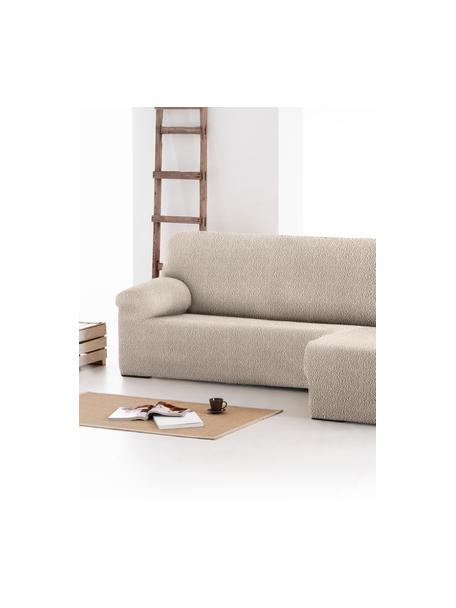 Copertura divano angolare Roc, 55% poliestere, 35% cotone, 10% elastomero, Color crema, Larg. 360 x Alt. 180 cm