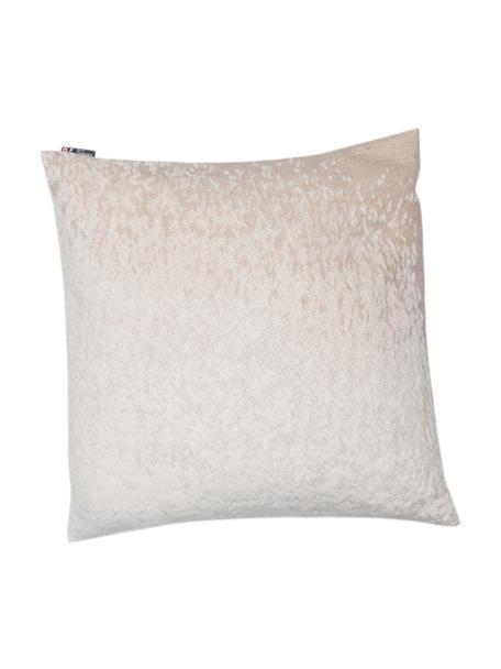 Kussenhoes Deco met kleurverloop in crèmekleur/beige, 85% katoen, 15% polyacryl, Wit, beige, 50 x 50 cm