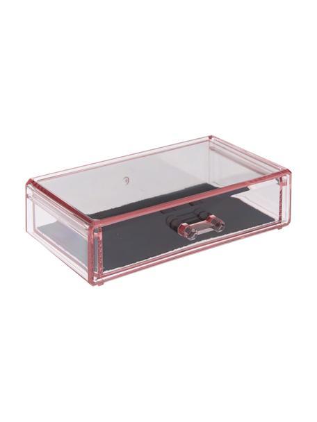 Organizer do łazienki Rosalie, Tworzywo sztuczne, Blady różowy, S 19 x W 5 cm
