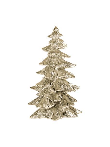 Handgefertigtes Deko-Baum Serafina Christmas Tree, Polyresin, Goldfarben, Ø 10 x 15 cm