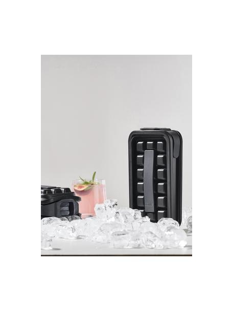 IJsblokjesvorm Ice, Kunststof, siliconen, Zwart, 12 x 21 cm