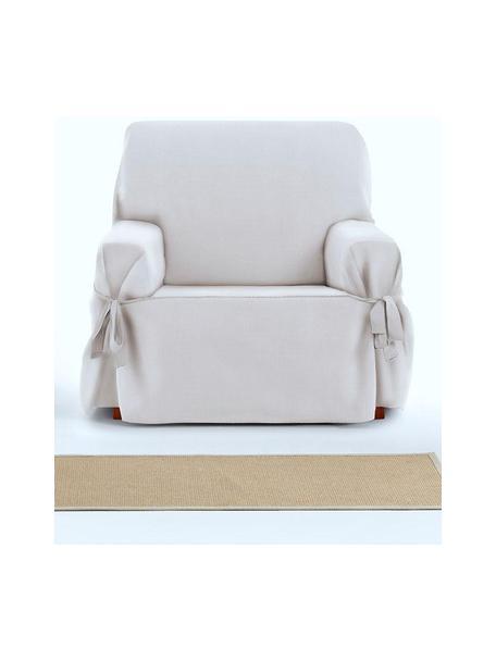Funda de sillón Levante, 65%algodón, 35%poliéster, Blanco, An 110 x Al 110 cm