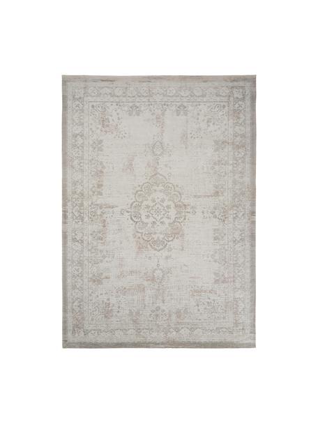Tappeto vintage in ciniglia color grigio chiaro/marrone Medaillon, Grigio chiaro, marrone, Larg. 80 x Lung. 150 cm (taglia XS)