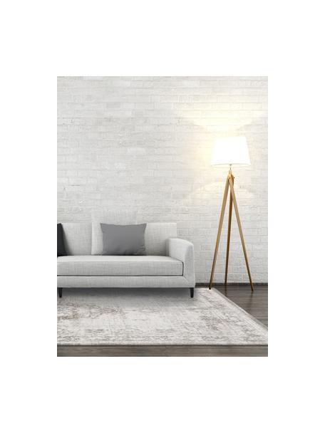 Dywan szenilowy w stylu vintage Medaillon, Jasny szary, brązowy, S 80 x D 150 cm (Rozmiar XS)