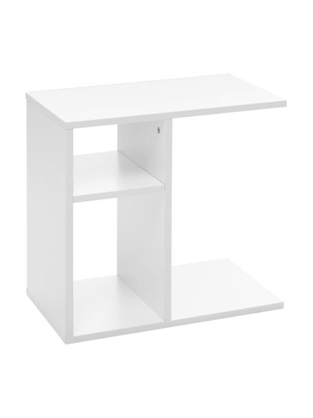 Tavolino con scomparti Milo, Truciolato, Bianco, Larg. 50 x Prof. 30 cm