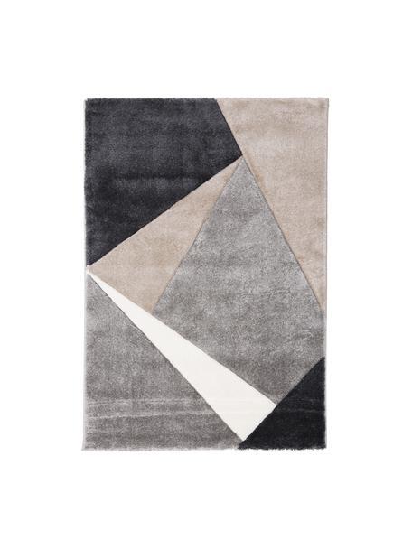 Alfombra de diseño My Broadway, Parte superior: 100%polipropileno, Reverso: yute, Gris pardo, beige, gris antracita, gris, An 120 x L 170 cm (Tamaño S)