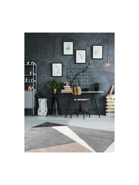 Tappeto con motivo geometrico beige-grigio My Broadway, Retro: juta, Taupe, beige, antracite, grigio, Larg. 120 x Lung. 170 cm (taglia S)