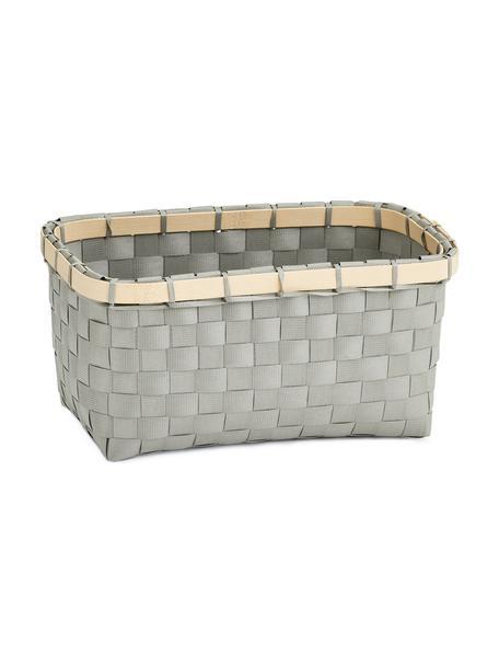 Cesta Bari, Cesta: plástico, Estructura: bambú, Gris, beige, An 24 x Al 12 cm