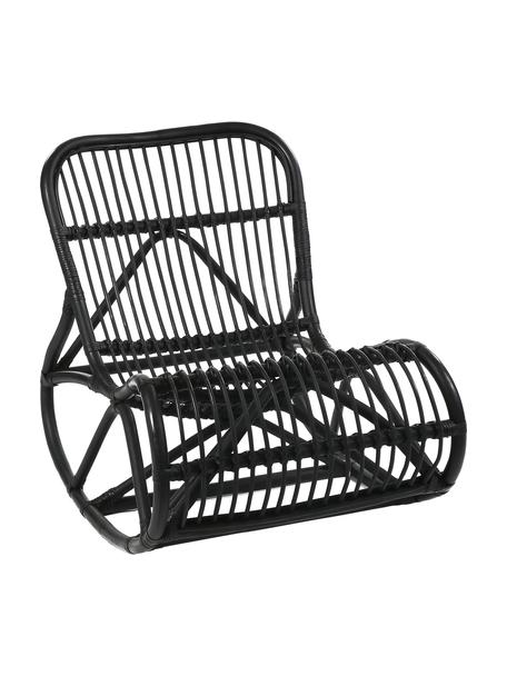 Fotel bujany  z rattanu Kim, Rattan, Czarny, S 62 x G 90 cm