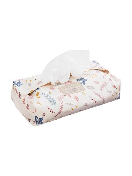 Estuche toallitas Pressed Leaves, 100%algodón ecológico, Crema, rosa, azul, gris, amarillo, An 25 x F 17 cm