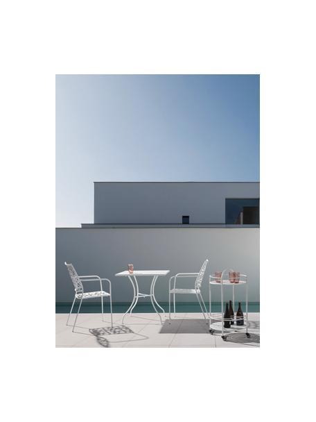 Stół ogrodowy z metalu Kelsie, Metal malowany proszkowo, Biały, S 70 x G 70 cm