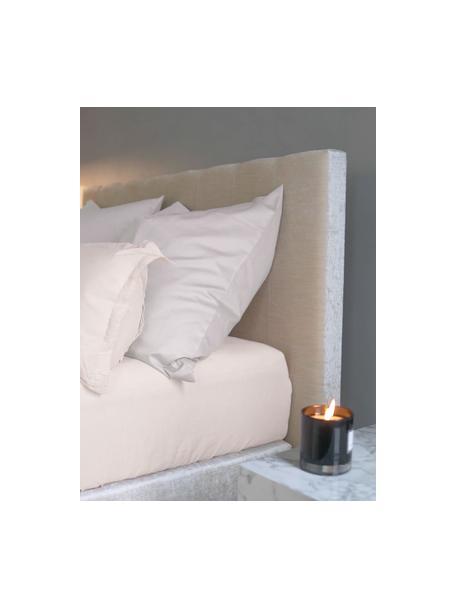 Prześcieradło z gumką z satyny bawełnianej Comfort, Blady różowy, S 90 x D 200 cm