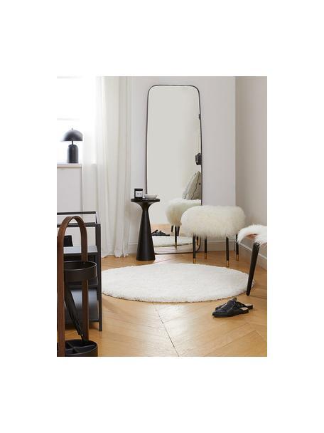 Flauschiger runder Hochflor-Teppich Leighton in Creme, Flor: Mikrofaser (100% Polyeste, Creme, Ø 120 cm (Größe S)
